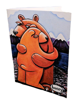 Bear Hug Note Card - Art of Henry