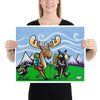 Bear, Moose and Raven Hiking - Henry Print - Art of Henry