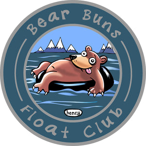 Bear Buns Float Club Sticker - Art of Henry
