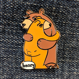 Bear Hug Enamel Pin - Art of Henry