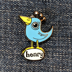 Blue Bird Enamel Pin - Art of Henry