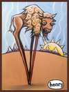 Buffalo on Stilts Sticker - Art of Henry