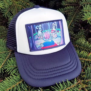 Bunnies Camping Little Henry Trucker Hat - Art of Henry