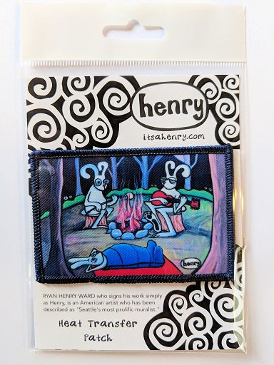 Bunnies Camping Patch - Art of Henry
