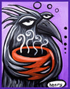 Crow With a Cup of Joe Sticker - Art of Henry