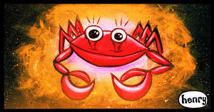 Happy Crab Sticker - Art of Henry