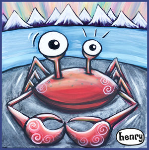 Crab on a Rock Magnet - Art of Henry
