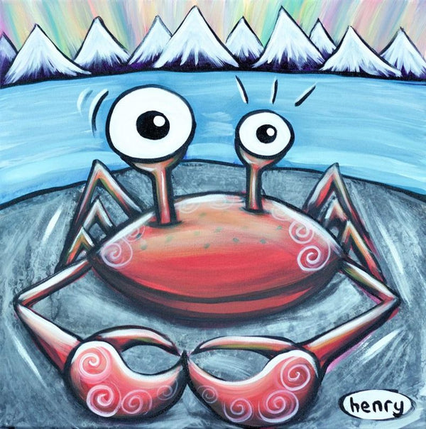 Crab on a Rock Canvas Print - Art of Henry