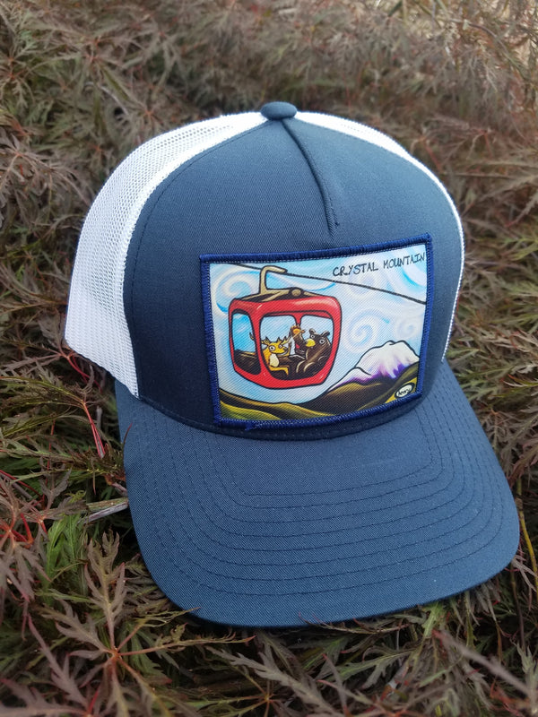 Gondola Fun - Crystal Mountain Trucker Hat - Art of Henry