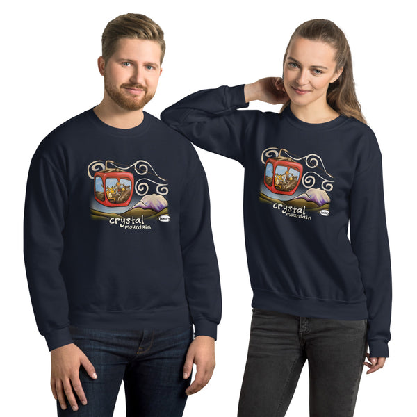 Gondola Fun at Crystal Mountain Unisex Sweatshirt - Art of Henry