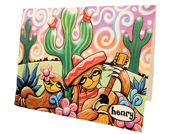 Desert Serenade Note Card - Art of Henry