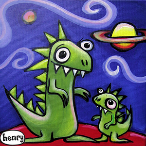 Dinosaur Jr Canvas Print - Art of Henry