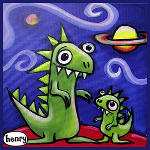 Dinosaur Jr Sticker - Art of Henry