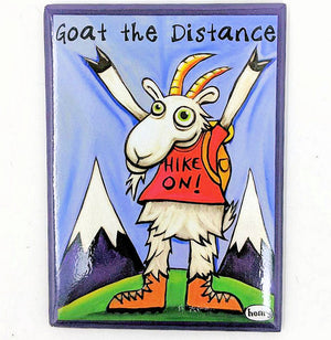 Goat Hiking Magnet
