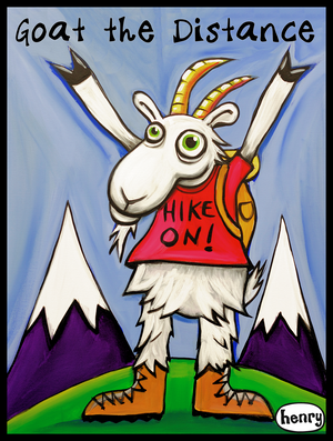 Goat The Distance Hiking Sticker - Art of Henry