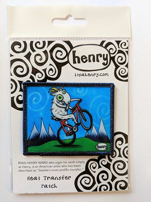 Goat Biking Patch - Art of Henry