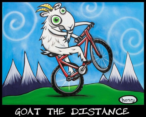 Goat The Distance Biking Sticker