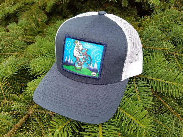 Goat Biking Trucker Hat