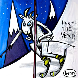 Hurt the Vert Goat Skiing Trucker Hat - Art of Henry