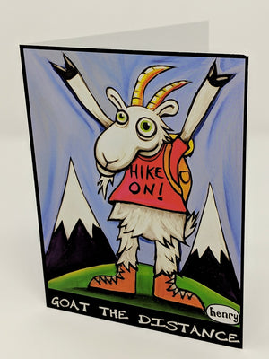Goat the Distance Note Card