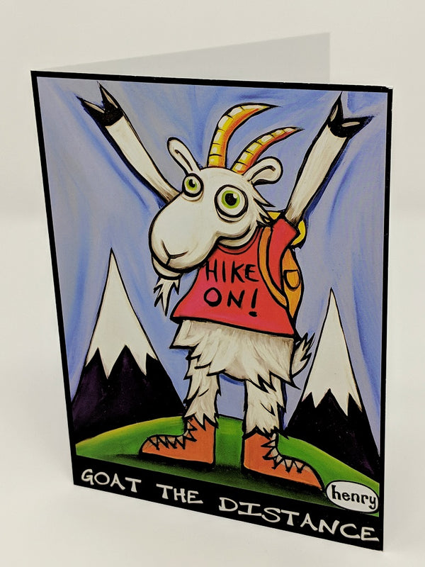 Goat the Distance Note Card - Art of Henry