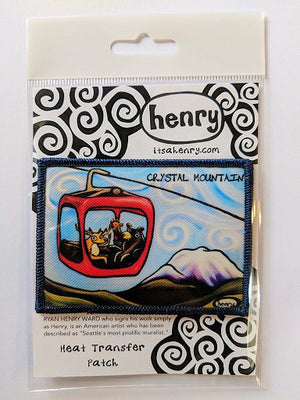 Gondola Fun - Crystal Mountain Patch - Art of Henry
