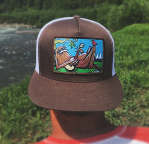 Sasquatch Flat Bill Trucker Hat - Art of Henry