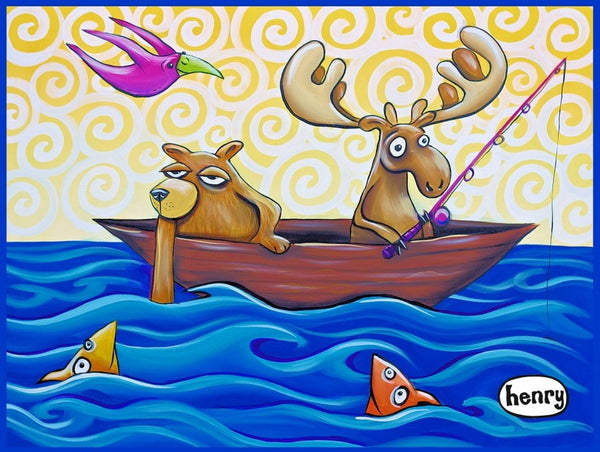 Moose and Bear Fishing