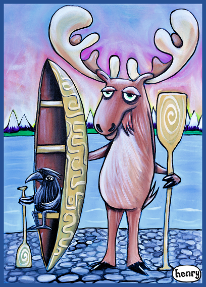 Moose and Raven Canoe