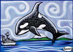 Orca Seattle Magnet - Art of Henry