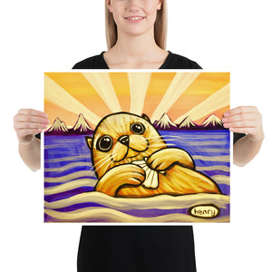 Otter with Clam - Henry Print - Art of Henry