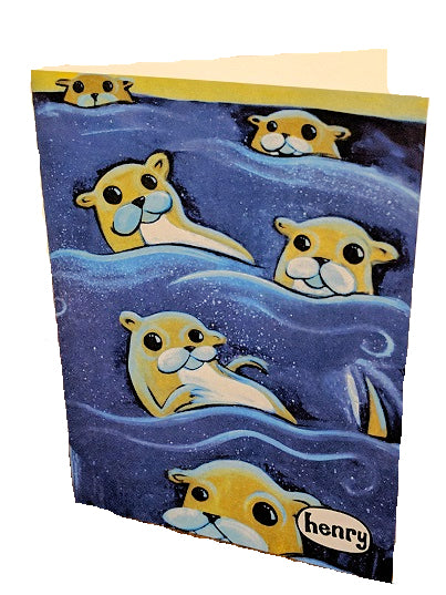 Otters Note Card - Art of Henry