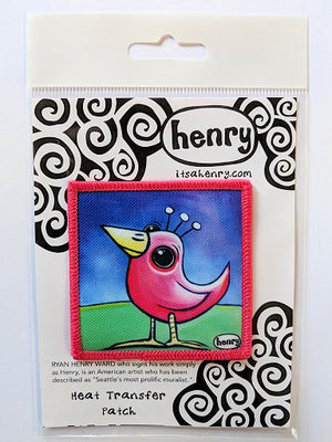 Pink Bird Patch - Art of Henry