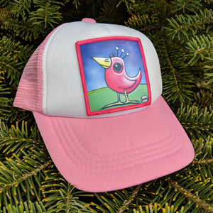 Toddler Pink Bird Trucker Hat - Art of Henry