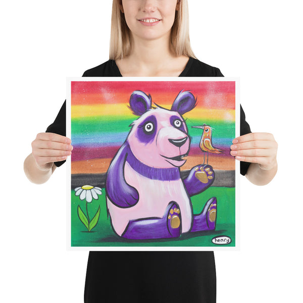 Rainbow Panda - Henry Print - Art of Henry