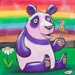 Rainbow Panda Canvas Print - Art of Henry