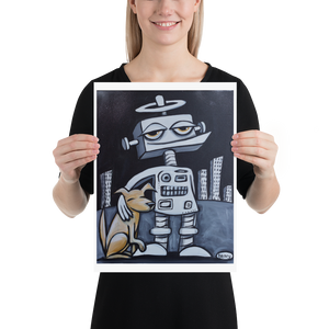Robot with Dog - Henry Print - Art of Henry