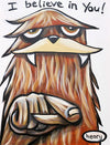 Sasquatch - I Believe in You Sticker | Original Art by Seattle Mural Artist Ryan