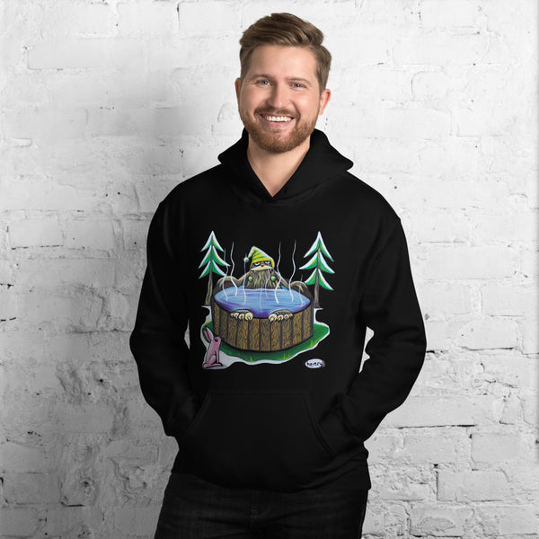 Sasquatch in a Hot Tub Unisex Hoodie - Art of Henry