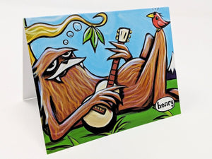 Sasquatch Chilling Note Card - Art of Henry