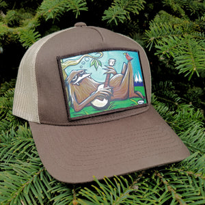 Sasquatch Chilling Trucker Hat - Art of Henry