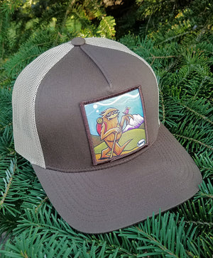 Sasquatch Hiking Trucker Hat
