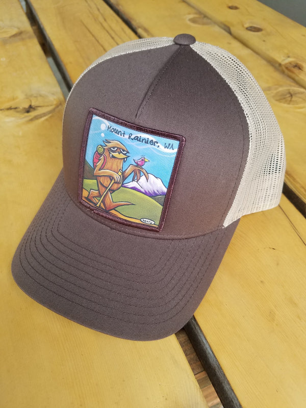 Sasquatch Hiking Trucker Hat - MT Rainier