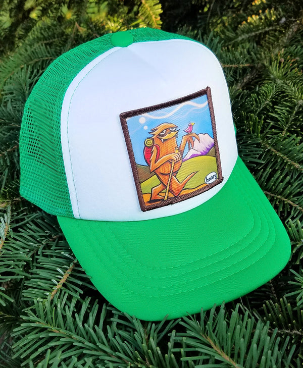 Sasquatch Hiking Little Henry Trucker Hat - Art of Henry