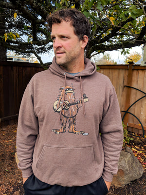 Sasquatch Playing Guitar Unisex Hoodie