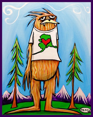 Sasquatch is big in Alaska Sticker - Art of Henry