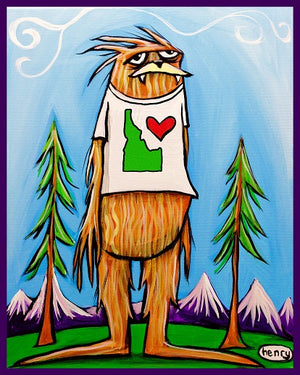 Sasquatch is big in Idaho Sticker - Art of Henry