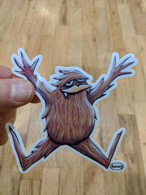 Sasquatch Jumping For Joy Sticker