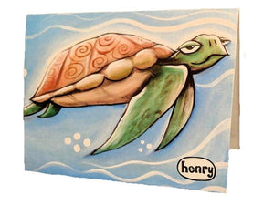 Sea Turtle Note Card - Art of Henry
