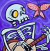 Skeleton and Butterfly Canvas Giclee Print Featuring Original Art by Seattle Mural Artist Ryan Henry Ward